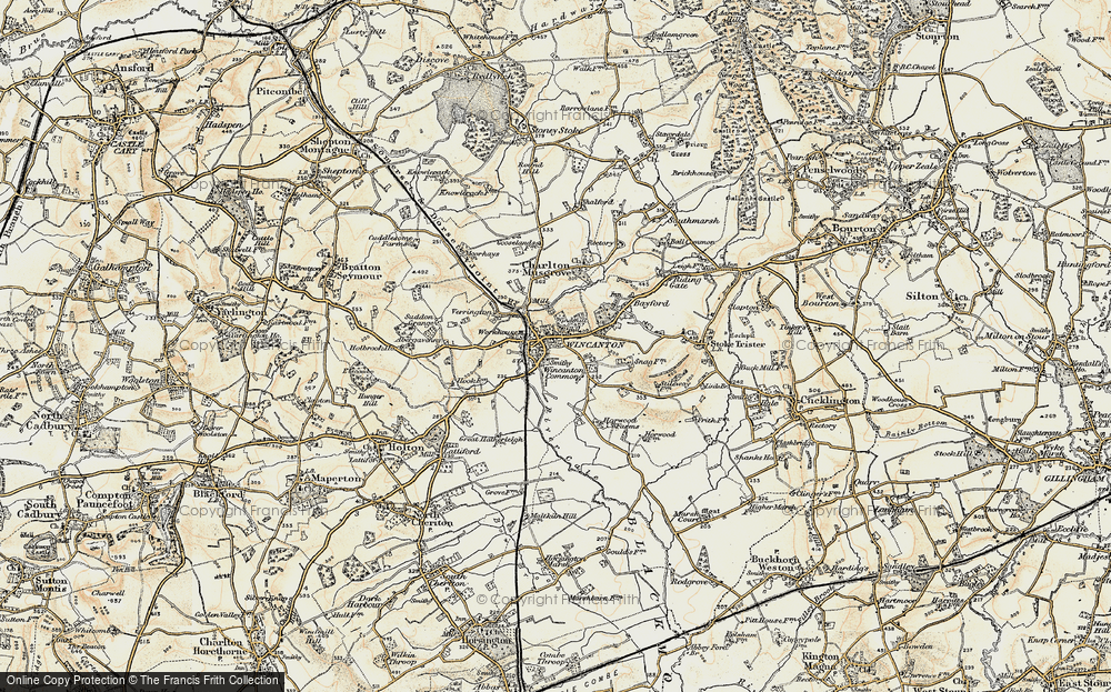 Old Map of Wincanton, 1897-1899 in 1897-1899