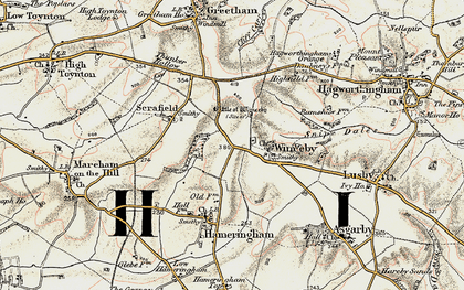 Old map of Winceby in 1902-1903
