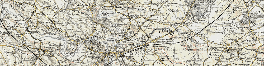 Old map of Wincham in 1902-1903