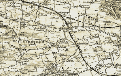 Old map of Winchburgh in 1904-1906
