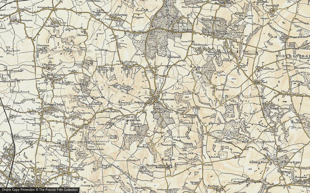 Old Map of Winchcombe, 1899-1900 in 1899-1900