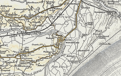 Old map of Winchelsea in 1898