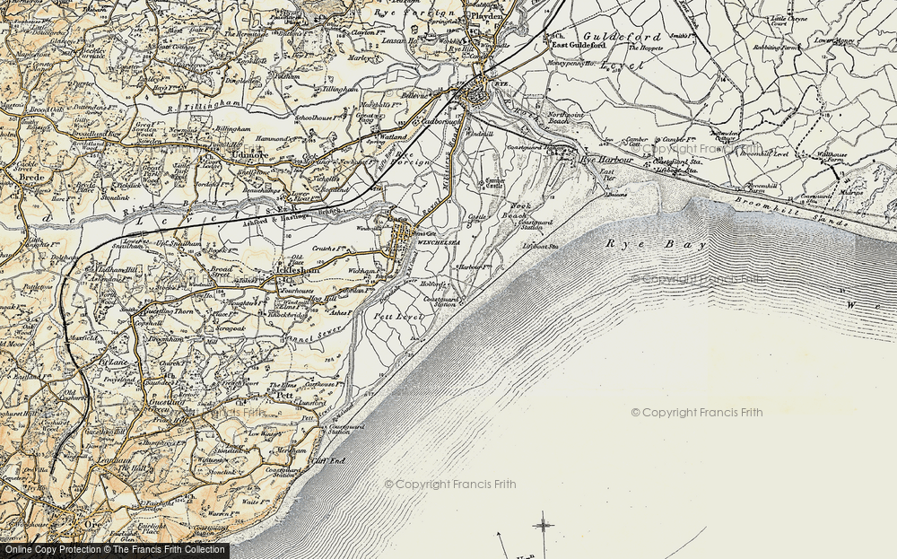 Old Map of Winchelsea Beach, 1898 in 1898