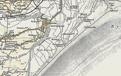 Old map of Winchelsea Beach in 1898
