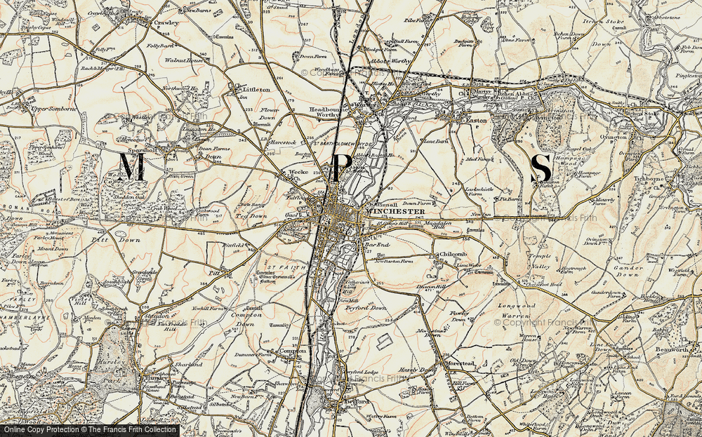 Old Map of Winchester, 1897-1900 in 1897-1900