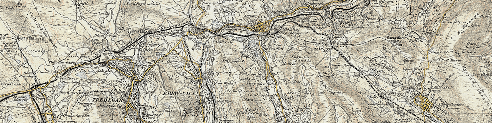 Old map of Winchestown in 1899-1900