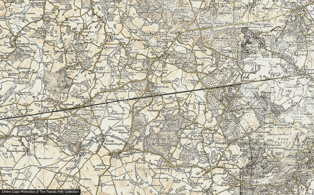 Old Map of Winchfield, 1897-1909 in 1897-1909