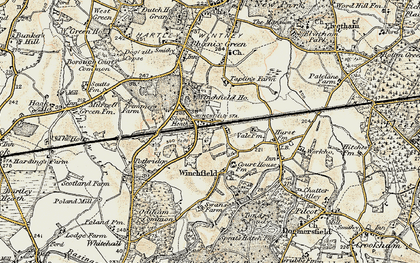 Old map of Winchfield in 1897-1909