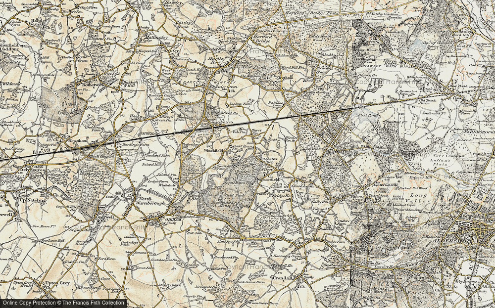 Old Map of Winchfield Hurst, 1898-1909 in 1898-1909