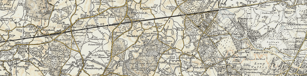 Old map of Winchfield Hurst in 1898-1909