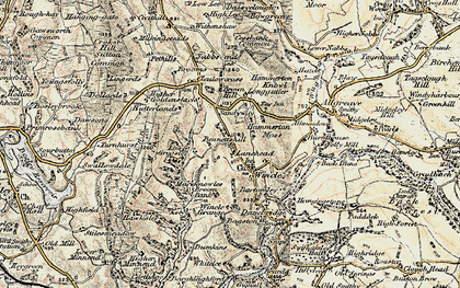 Old map of Withenshaw in 1902-1903