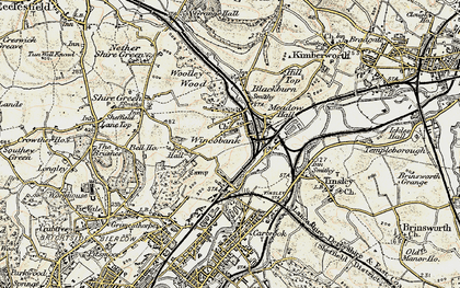Old map of Wincobank in 1903