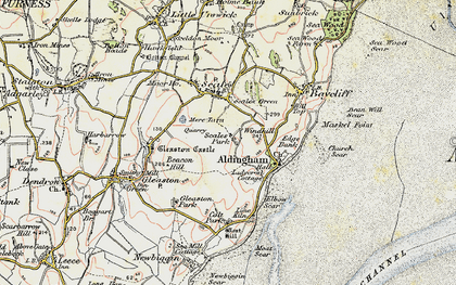 Old map of Wind Hill in 1903-1904
