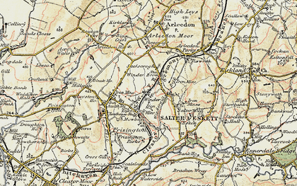 Old map of Winder Brow in 1901-1904