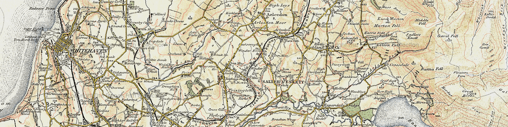 Old map of Winder in 1901-1904