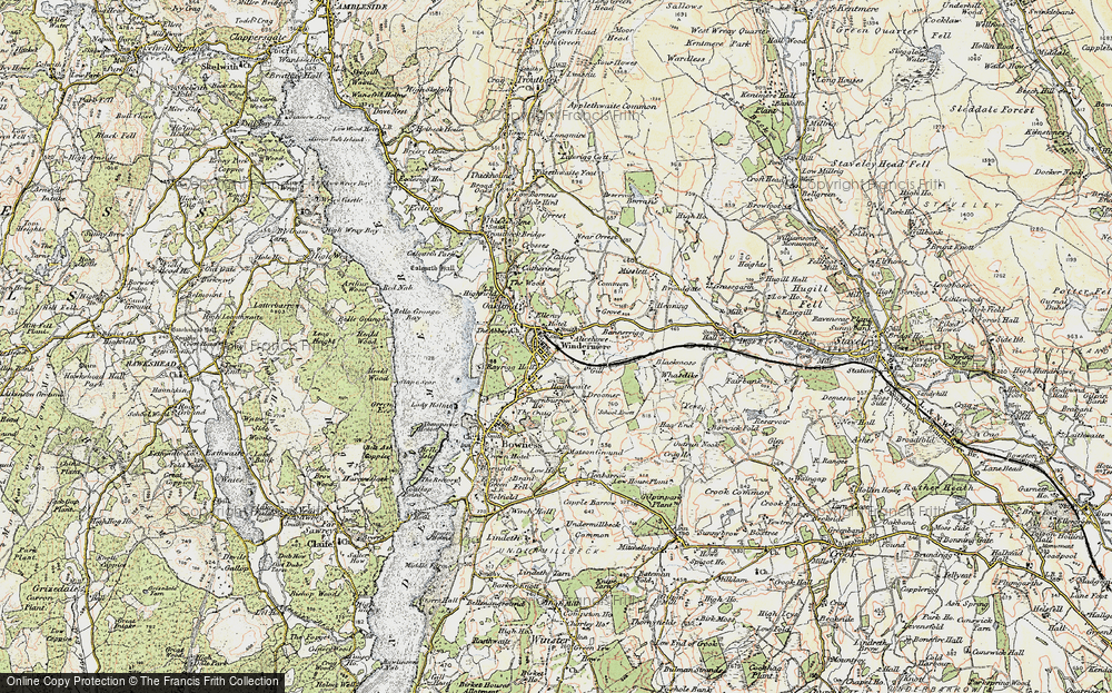 Old Map of Windermere, 1903-1904 in 1903-1904