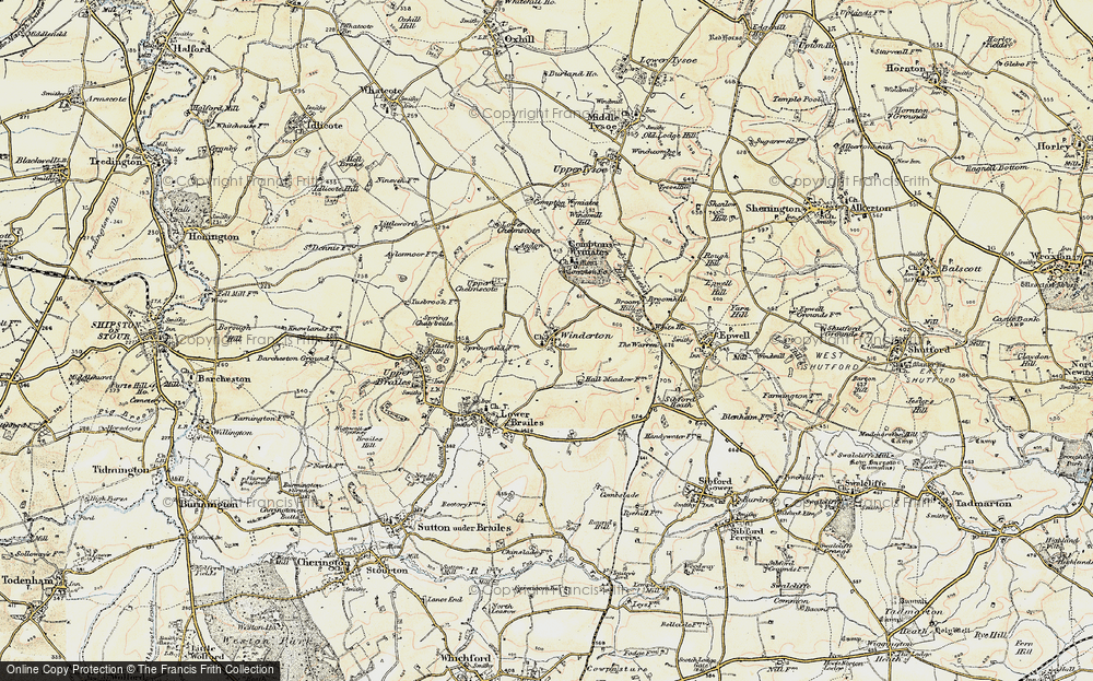 Old Map of Winderton, 1898-1901 in 1898-1901
