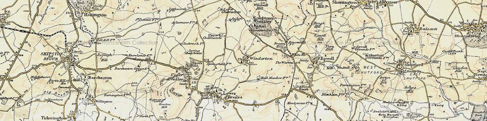 Old map of Winderton in 1898-1901