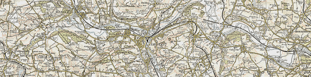 Old map of Windhill in 1903-1904