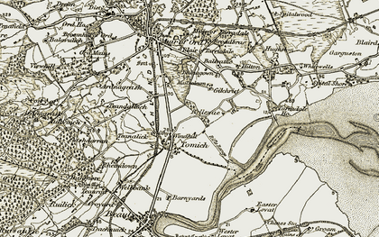 Old map of Windhill in 1911-1912