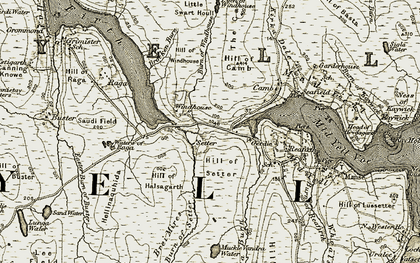 Old map of Windhouse (ruin) in 1912