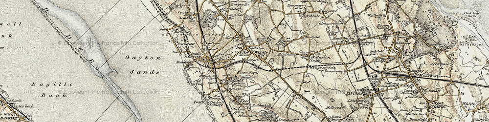 Old map of Windle Hill in 1902-1903