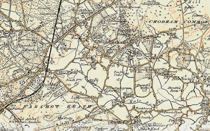 Old map of Windlesham Park in 1897-1909