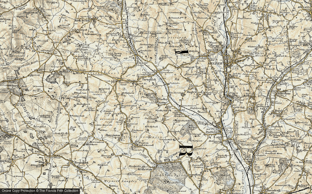 Old Map of Historic Map covering Lilies, The in 1902