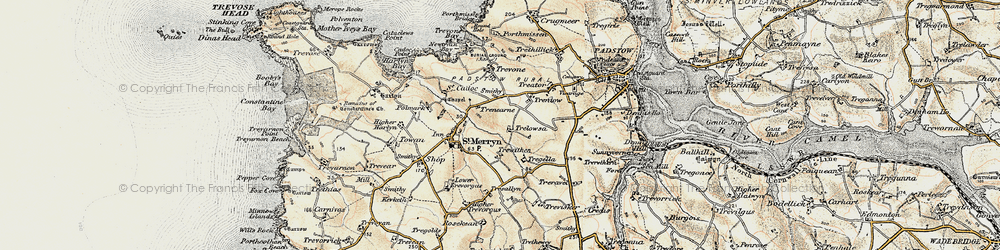 Old map of Windmill in 1900