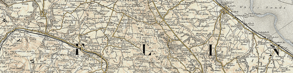 Old map of Windmill in 1902-1903