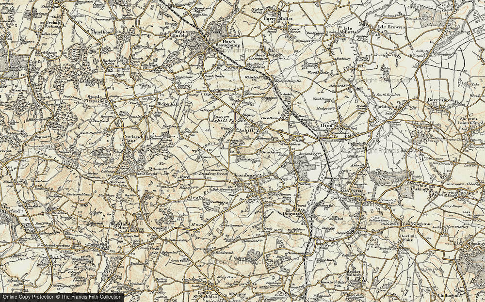 Old Map of Windmill Hill, 1898-1900 in 1898-1900