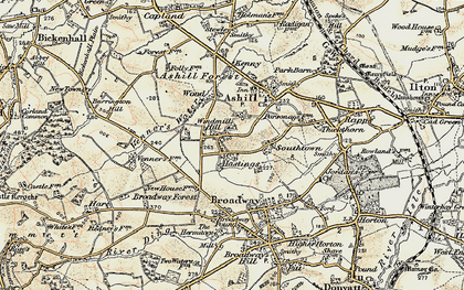 Old map of Windmill Hill in 1898-1900