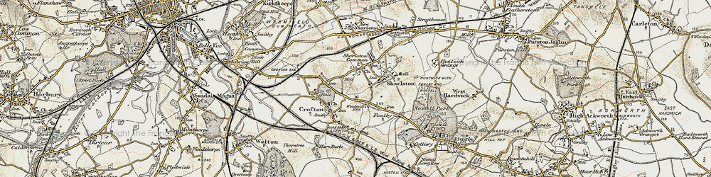 Old map of Windmill Hill in 1903