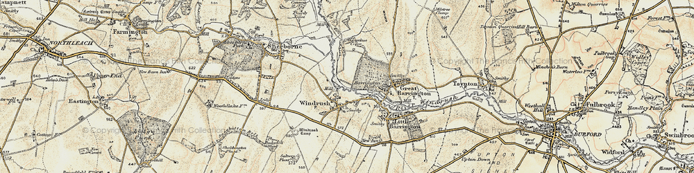 Old map of Windrush Camp in 1898-1899