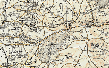 Old map of Windwhistle in 1898-1899