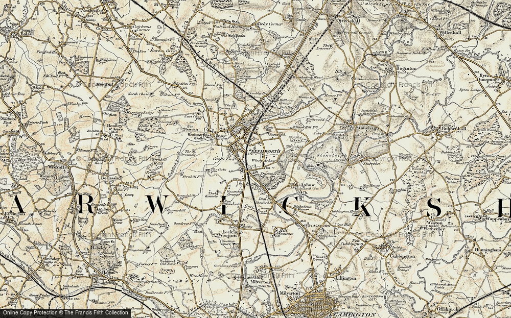 Old Map of Windy Arbour, 1901-1902 in 1901-1902