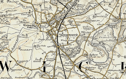 Old map of Windy Arbour in 1901-1902