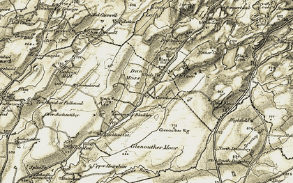 Old map of Windy-Yett in 1905-1906