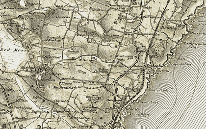 Old map of Windyedge in 1908-1909