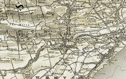 Old map of Windygates in 1903-1908