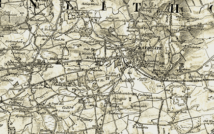 Old map of Windyknowe in 1904