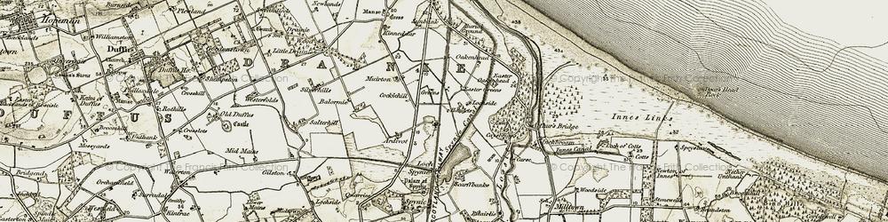 Old map of Windyridge in 1910-1911