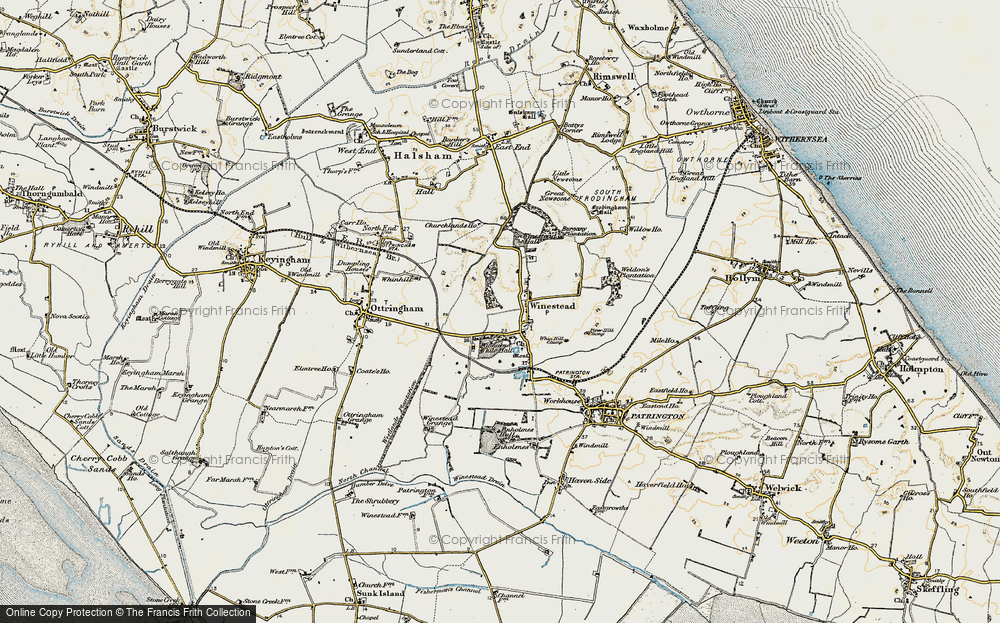 Old Map of Winestead, 1903-1908 in 1903-1908