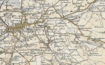 Old map of Winewall in 1903-1904