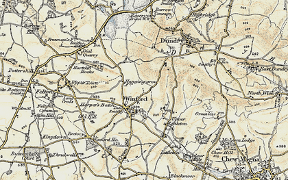 Old map of Winford in 1899