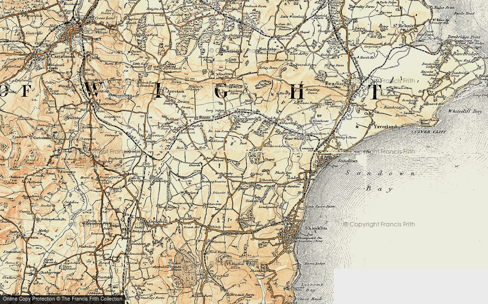 Old Map of Winford, 1899 in 1899