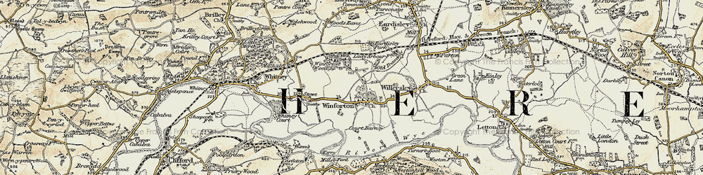 Old map of Winforton in 1900-1901