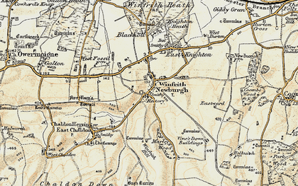 Old map of Marley Wood House in 1899-1909