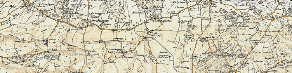 Old map of Winfrith Newburgh in 1899-1909