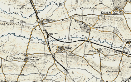 Old map of Wing in 1901-1903
